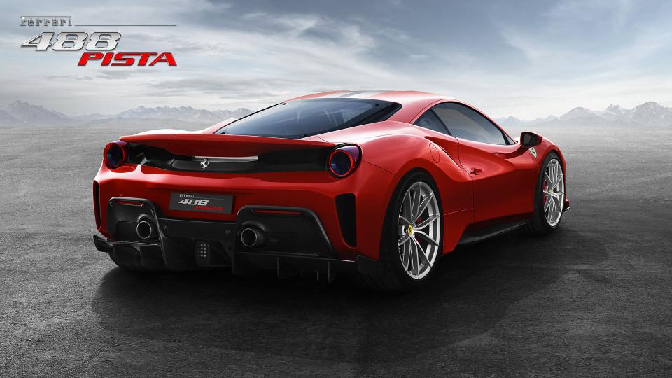 Ferrari 488 Pista spate