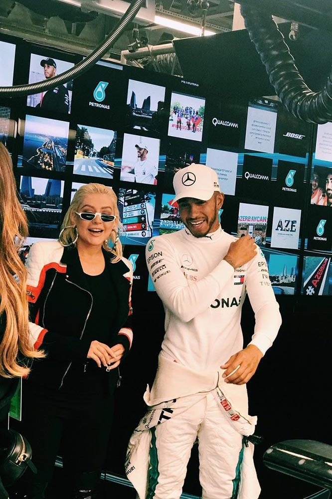 Lewis Hamilton and Lewis Hamilton - Baku City Circuit